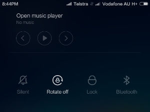Demonstrates dual SIM with Telstra and Vodafone SIMs